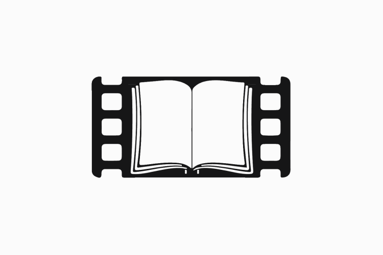 icon of book in movie reel